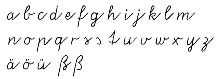 Письменные буквы немецкого алфавита