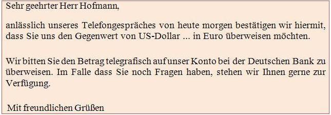 Как написать официальное письмо с просьбой на немецком