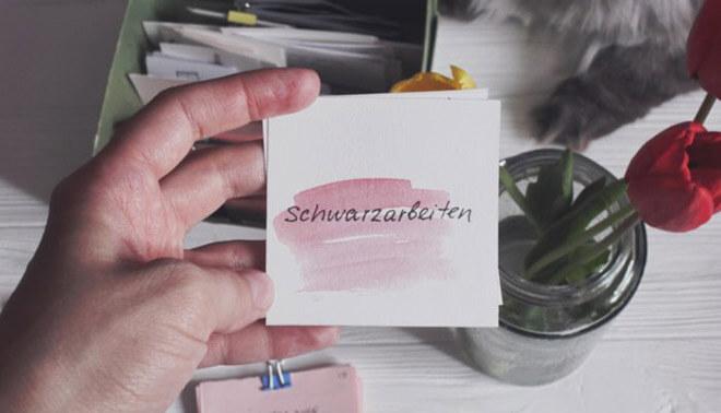 Учим немецкий по карточках
